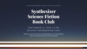 Synthesizer Science Fiction Book Club @ Mutiny Information Cafe