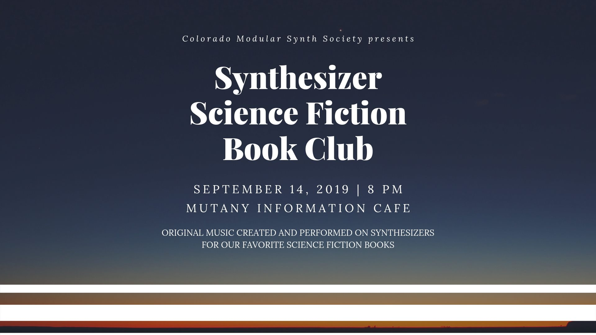 Synthesizer Science Fiction Book Club