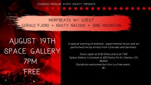 Hainbach, Morfbeats, Gerald Fjord, Nasty Nachos and Sine Mountain at Space @ Space Gallery